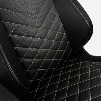 Gamer szék noblechairs ICON Valódi Bőr Fekete