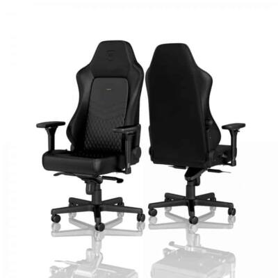 Gamer szék noblechairs HERO Valódi Bőr Fekete