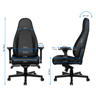 Gamer szék Noblechairs ICON Black Edition