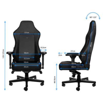 Gamer szék Noblechairs HERO Black Edition Hybrid Bőr