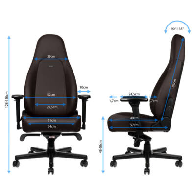 Gamer szék noblechairs ICON Java Edition Hybrid Bőr