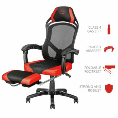 Trust GXT 706 Rona Gaming Chair with footrest Black/Red