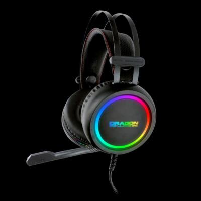 Dragon War Survey RGB Lighting Gaming Headset Black