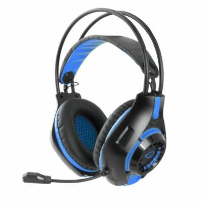 Esperanza Deathstrike Gaming headset Black/Blue