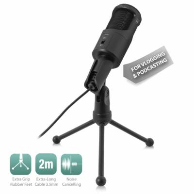Ewent EW3552 Multimedia Microphone with noise cancelling Black