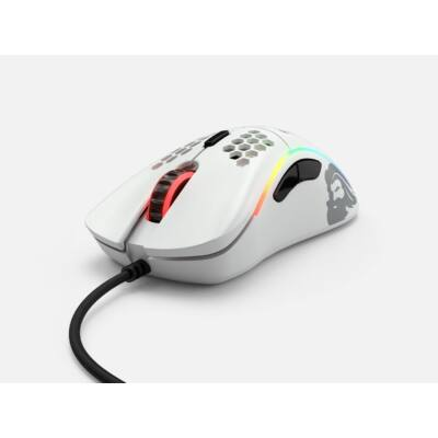 Glorious Model D Gaming Race RGB Matte White