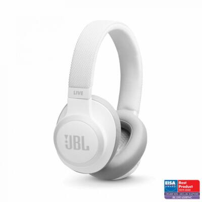 JBL Live 650BTNC Wireless Over-Ear Noise-Cancelling Headphones White