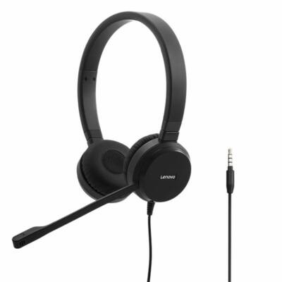 Lenovo Pro Wired Stereo VOIP Headset Black