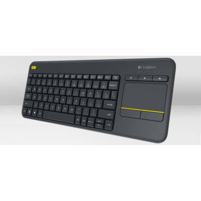 Logitech K400 Plus Wireless Touch Keyboard Black HU