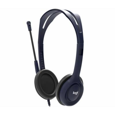 Logitech School Wired Headset with Microphone Blue