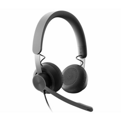 Logitech MSFT Teams Zone Wired Headset Black