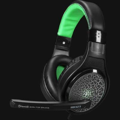 Marvo H8323 Gaming Headset Black/Green