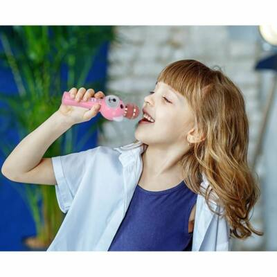 Promate  RockStar-2 Wireless Karaoke Microphone for Kids with Hi-Definition Speaker Pink