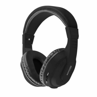 Promate  Tempo-BT Rechargeable Over-Ear Wireless Stereo Headset with Hi-Fi Sound Black