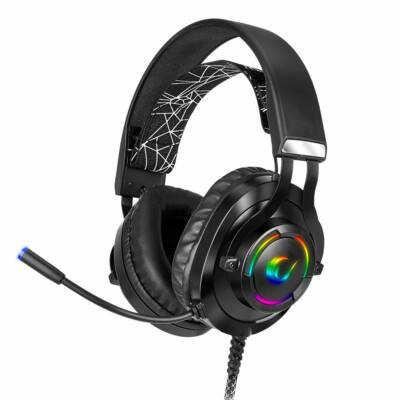 Rampage RM-K18 Double Black RGB Headset Black