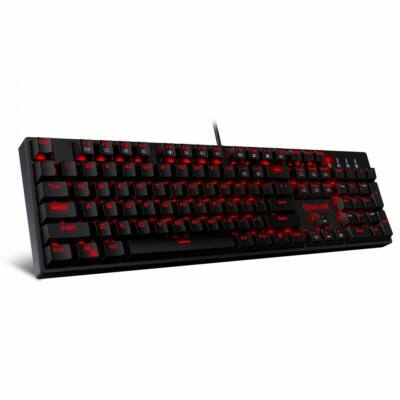Redragon Surara Pro Red LED Backlit Mechanical Gaming Keyboard with Ultra-Fast V-Optical Brown Switches Black HU