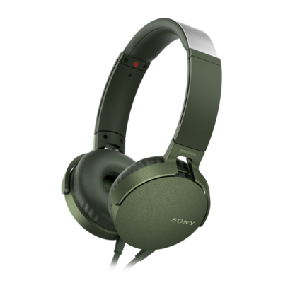 Sony MDR-XB550APG Extra Bass Headset Green
