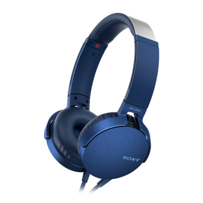 Sony MDR-XB550APL Extra Bass Headset Blue