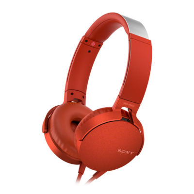 Sony MDR-XB550APR Extra Bass Headset Red