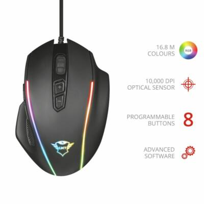 Trust GXT 165 Celox Gaming mouse Black