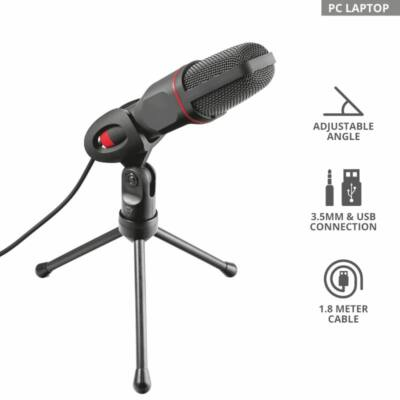Trust GXT 212 Mico USB Microphone Black