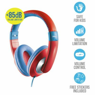 Trust Sonin Kids Headphones Red/Blue